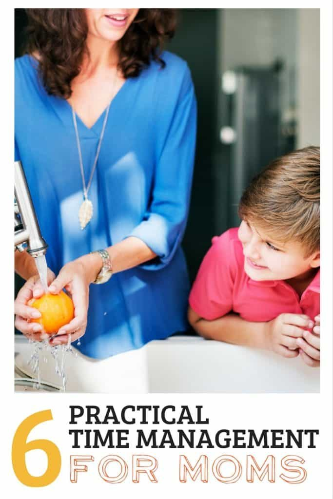 Moms need these time management tips! Practical tips to help you get through your day.