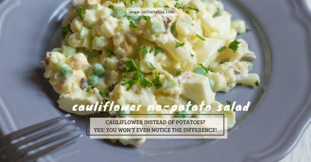 """Faux"" Potato Salad. Cauliflower potato salad without potatoes."