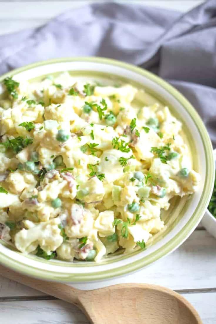 make potato salad from cauliflower instead of potatos