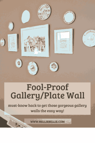 fool-proof Gallery Wall/Plate Wall hack