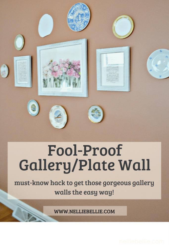 fool-proof Gallery Wall/Plate Wall hack