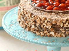 chocolate cherry almond cake