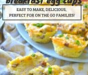 Make these cheese sausage breakfast egg cups for those mornings when you need fast and delicious breakfast on the go!