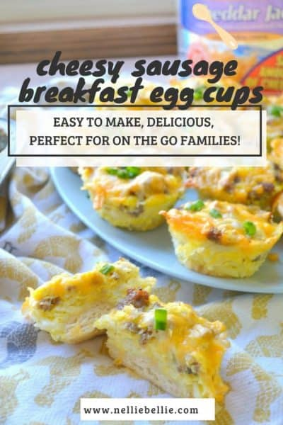 easy Cheesy Sausage breakfast cups