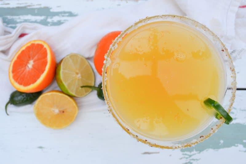 Orange jalapeno Margaritas. Oh so tasty, easy, and beautiful!