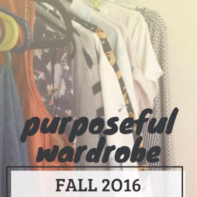 Fall 2016 Capsule Wardrobe