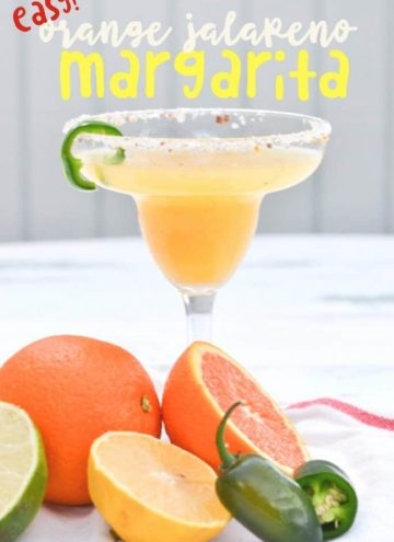 Orange Jalapeno Margaritas