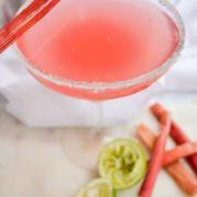 delicious rhubarb margarita recipe!