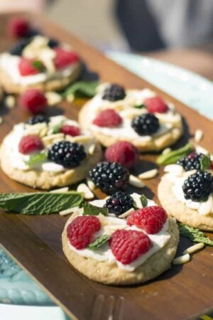 sugar cookie fruit pizzas