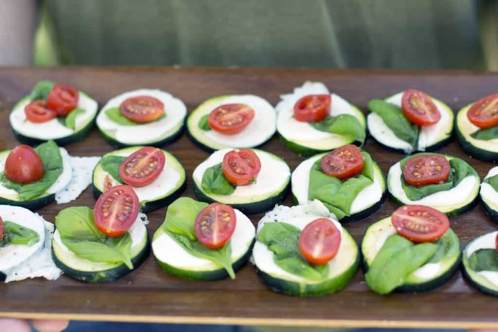 gluten free pizza party with delicious and easy zucchini bites