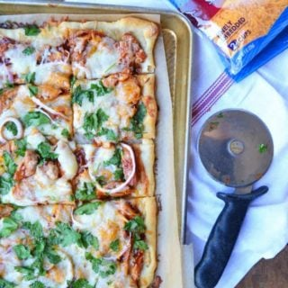 homemade bbq chicken pizza is super easy and utterly delicious. A family favorite!