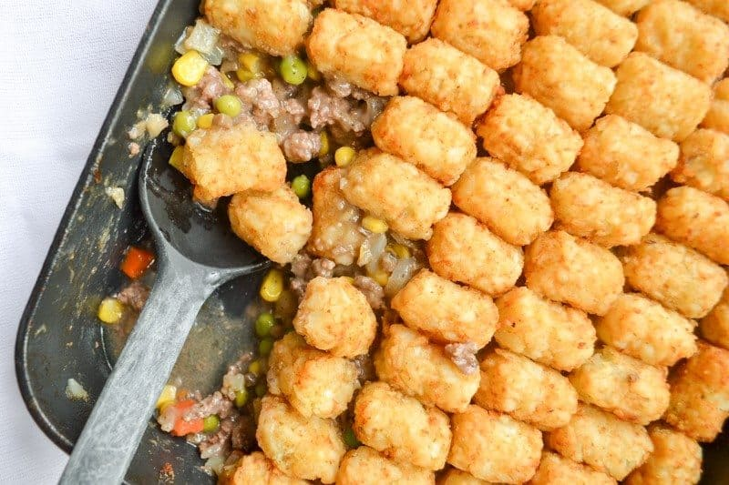 Tater Tot Hotdish (or casserole) is a Minnesota classic comfort food! This recipe is the easy, family-favorite recipe!
