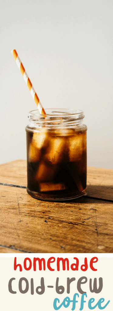 easy homemade cold-brew iced coffee recipe. A delicious summer beverage!