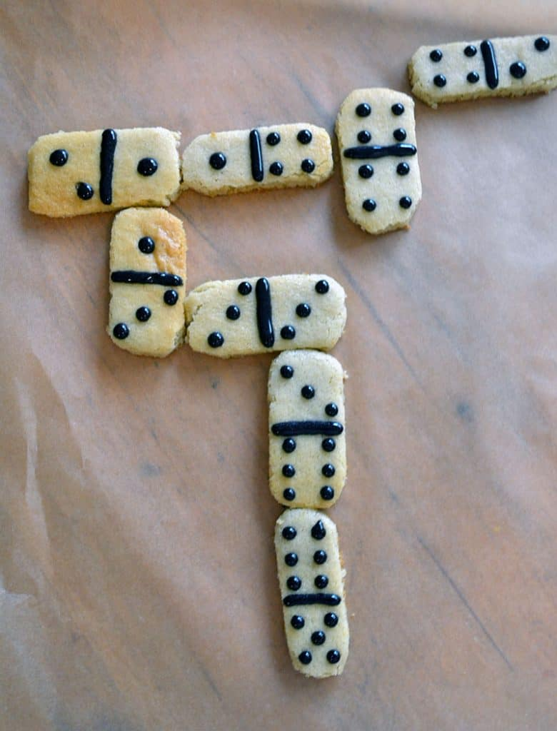 Cookie dominos are a great way to get kids interested in the kitchen AND math.