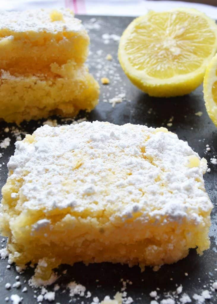 easy homemade lemon bar recipe just like Grandma's!