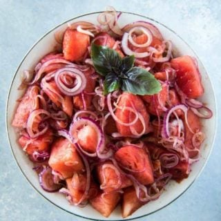 watermelon onion salad