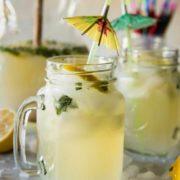 mint infused lemonade