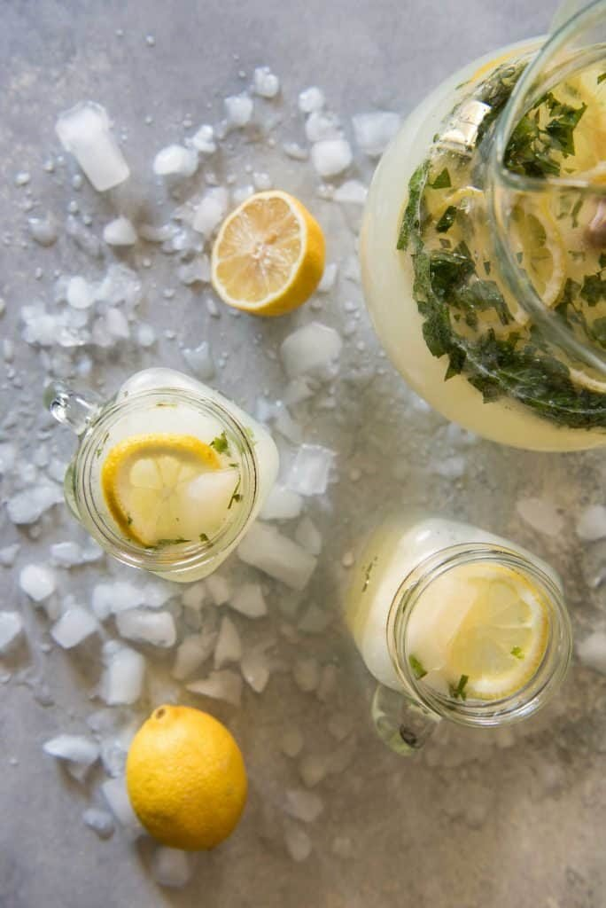 a mint-infused lemonade is a perfect summer drink!