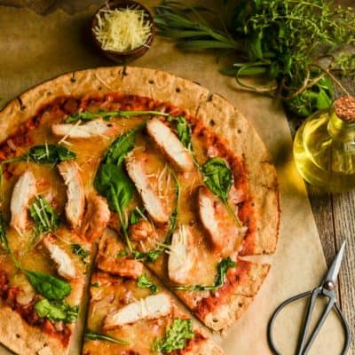 Chicken Arugula pizza