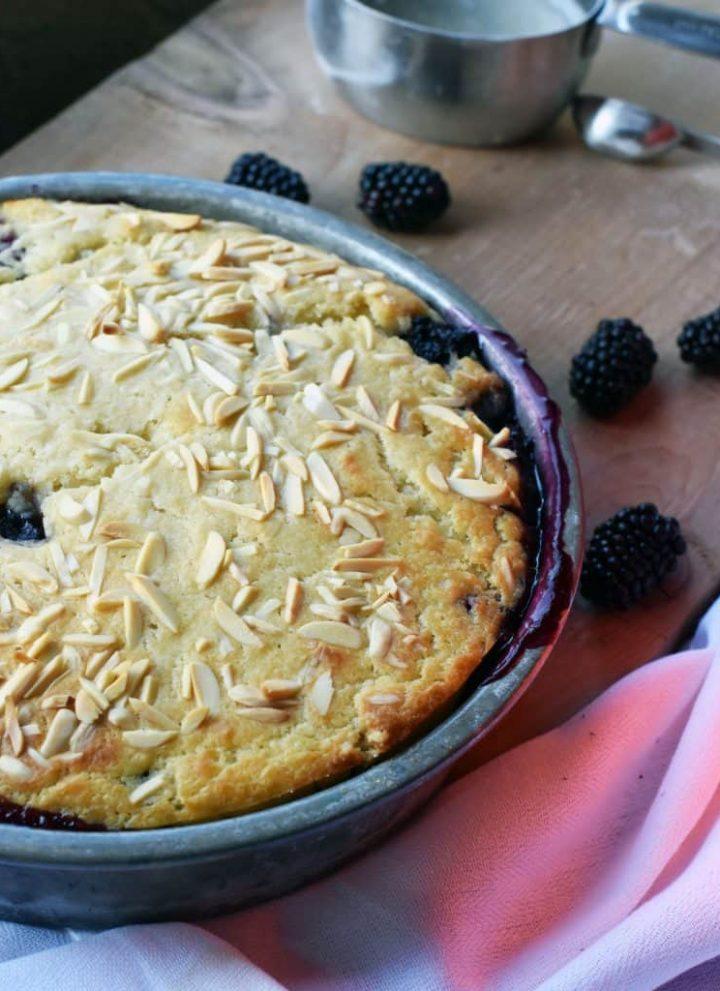 Gluten-free Almond Blackberry Cobbler