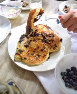 BLueberry Yogurt Pancakes