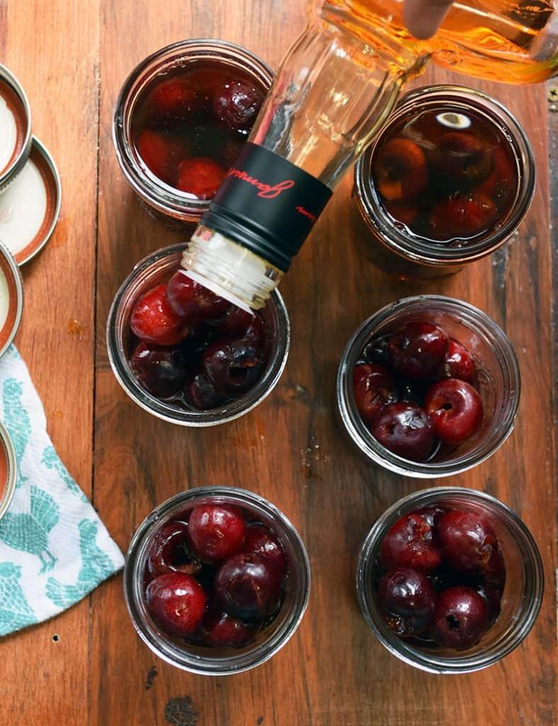 homemade cherry bourbon
