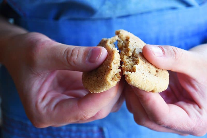 These will quickly become a family favorite! Easy and soft ginger cookies recipe with no molasses. Yum!
