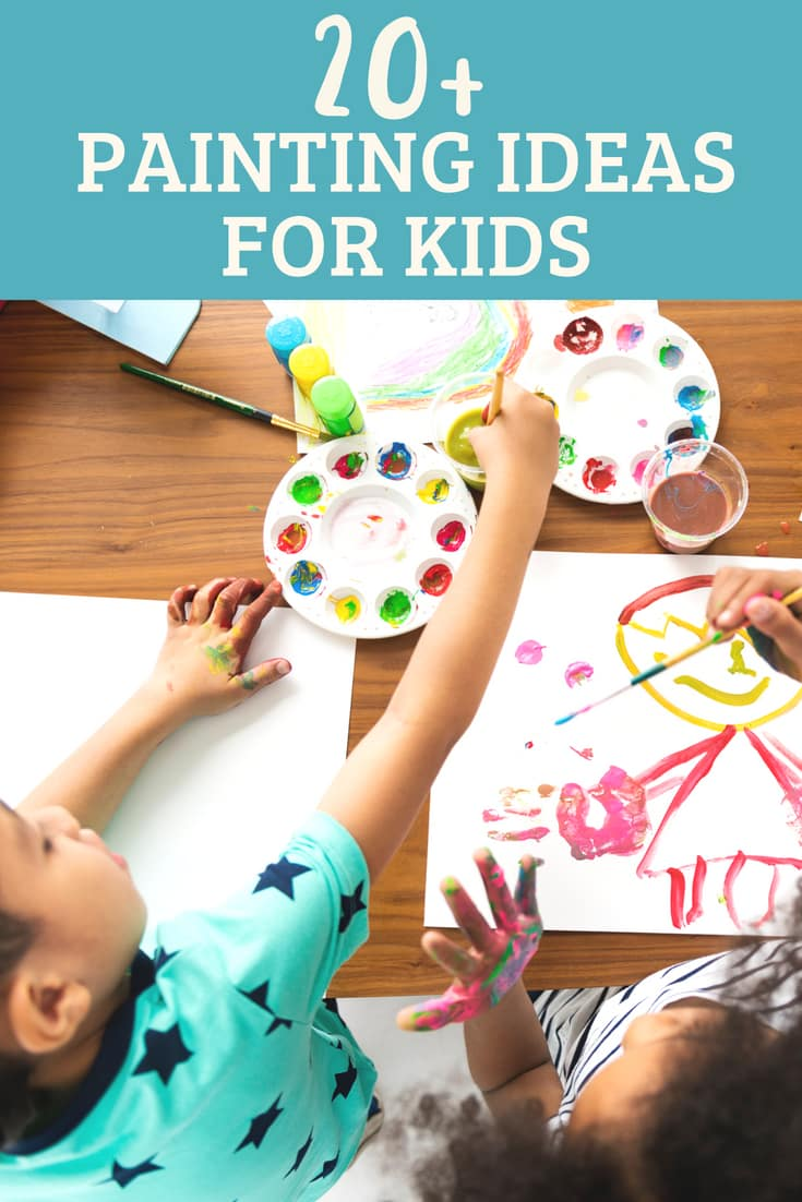 easy painting ideas for kids to try for at home arts and crafts.