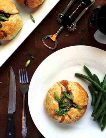 easy ground beef wellington uses puff pastry to keep this easy for dinner!