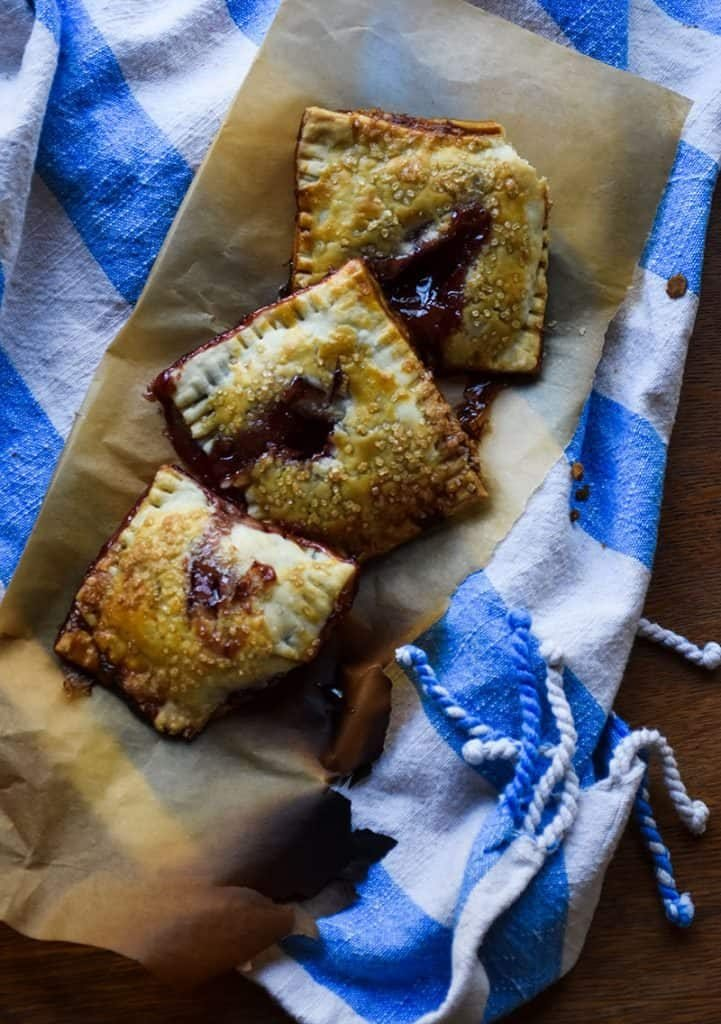 2 ingredient Homemade Pop Tarts are so easy to make and utterly delicious. An easy breakfast idea!