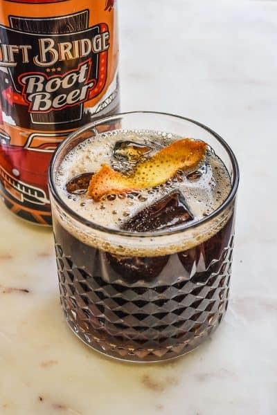 Easy spiked root beer cocktail. Full of root beer flavor with a touch of alcohol. Perfect cocktail for parties, football, and gatherings.