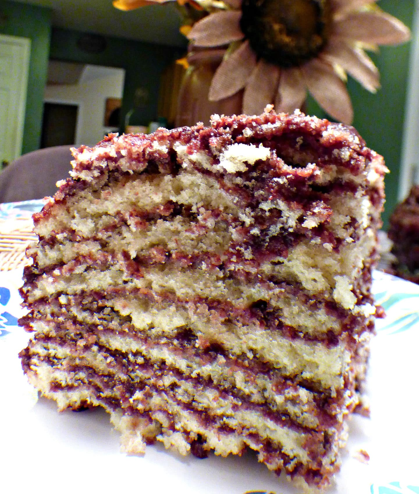 Grannys OldFashioned Multilayer Cake with Boiled Chocolate