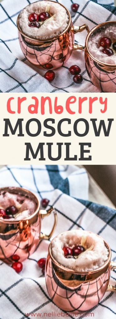 Cranberry Moscow Mule is a delicious and easy holiday cocktail the whole family will love!