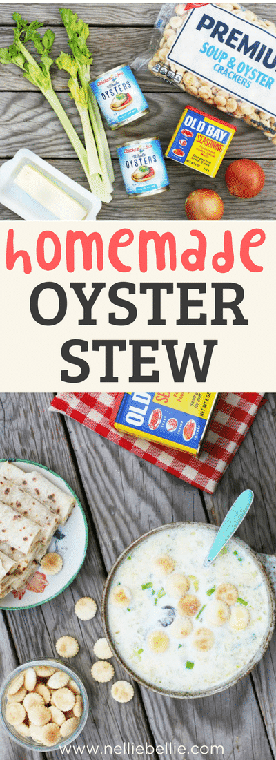 easy Homemade Oyster stew is a delightful warm and hearty soup the family will love!