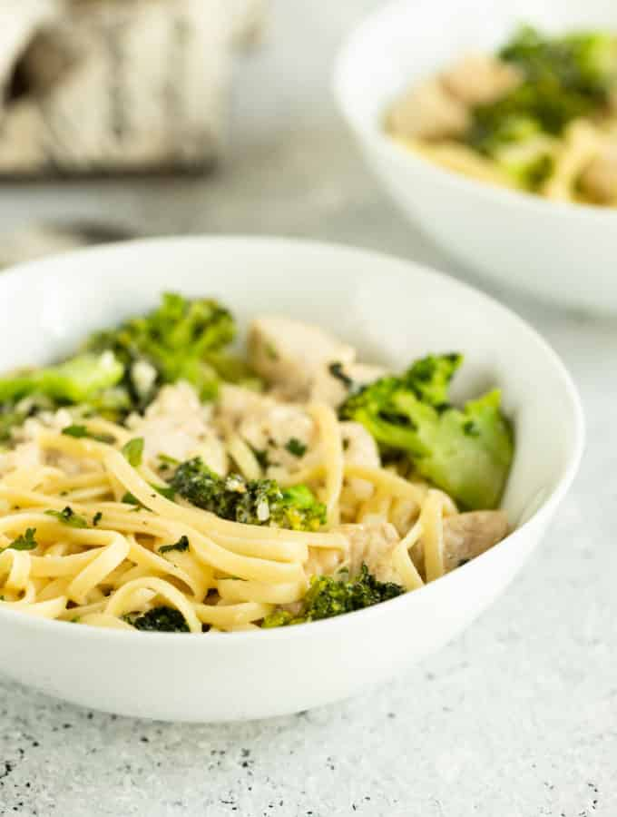 easy Broccoli Chicken Alfredo