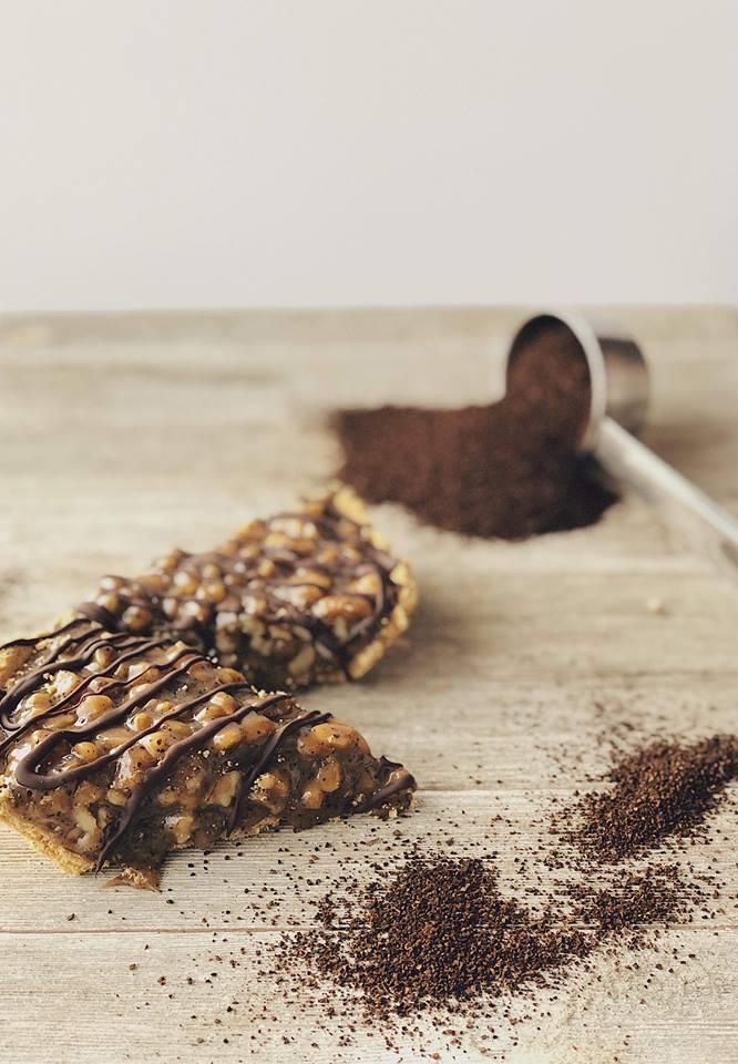 No-Bake Coffee Nut Caramel Tart