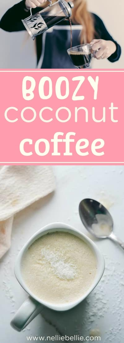 A boozy coconut coffee recipe. Simple and easy using coconut milk and rum. Dairy-free and great for the lactose intolerant. Simple and easy...delicious!!