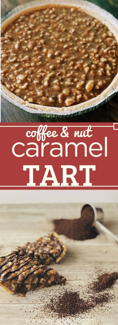 A quick and easy no-bake dessert! This caramel tart is simple to make with coffee and nuts...so yummy!