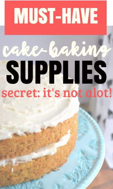 cake-making supplies you need to make a simple homemade cake