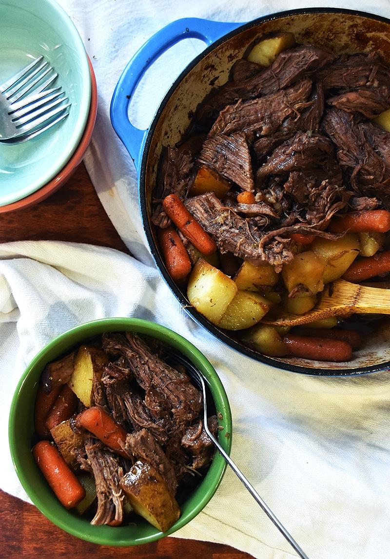 Grandma's Sunday Oven Pot Roast  srsly pot roast in the oven is best!