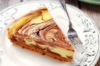 slice of hot fudge marble cheesecake