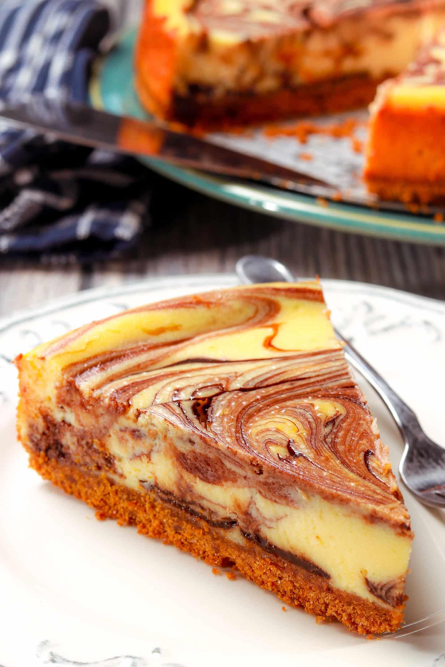 Hot Fudge Marble Cheesecake