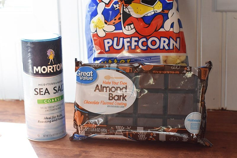 ingredients for almond bark puffcorn