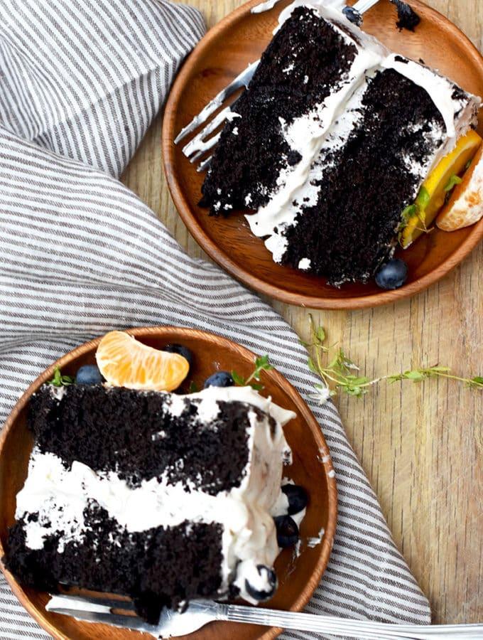 Black Cocoa Homemade Chocolate Cake