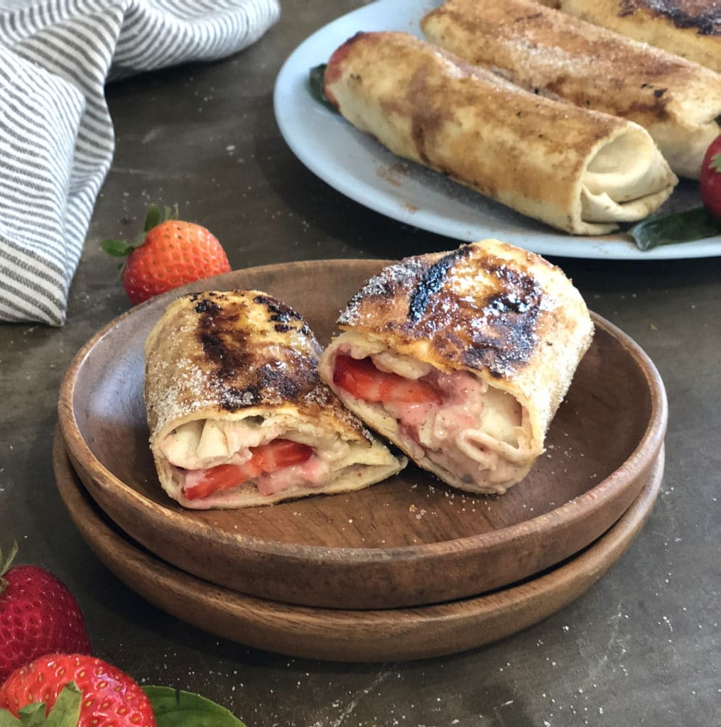 easy strawberry dessert burrito