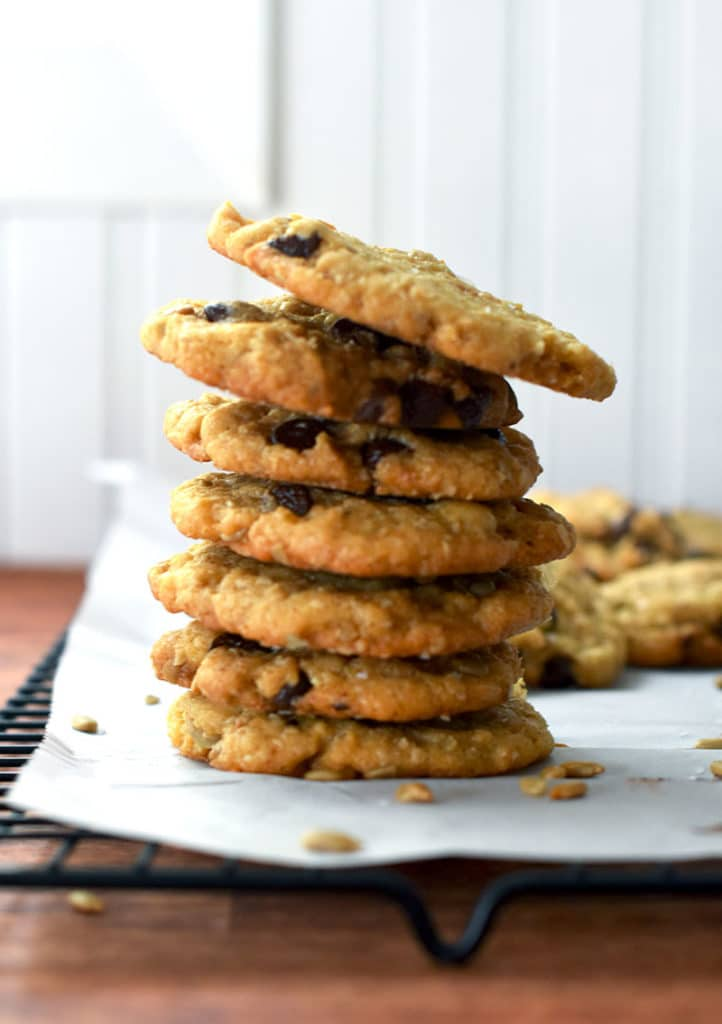 Sunflower Seed Chocolate Chip Cookies