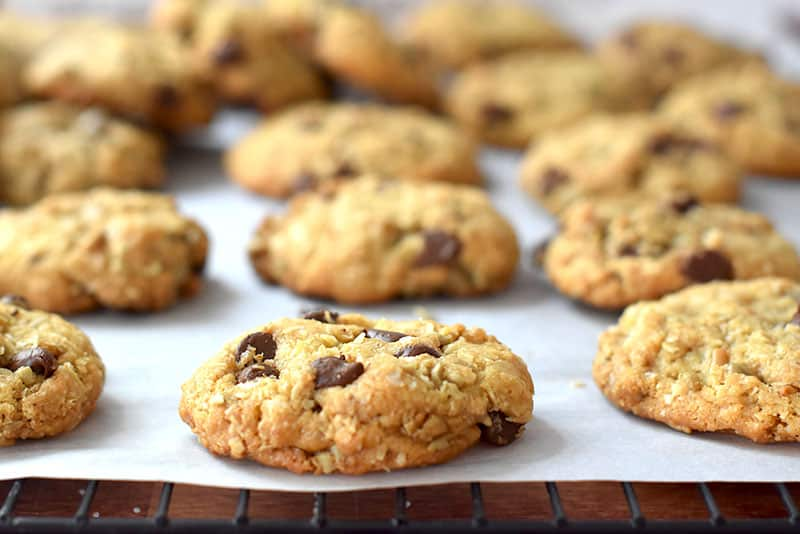 Sunflower Seed Coconut Chocolate Chip cookies