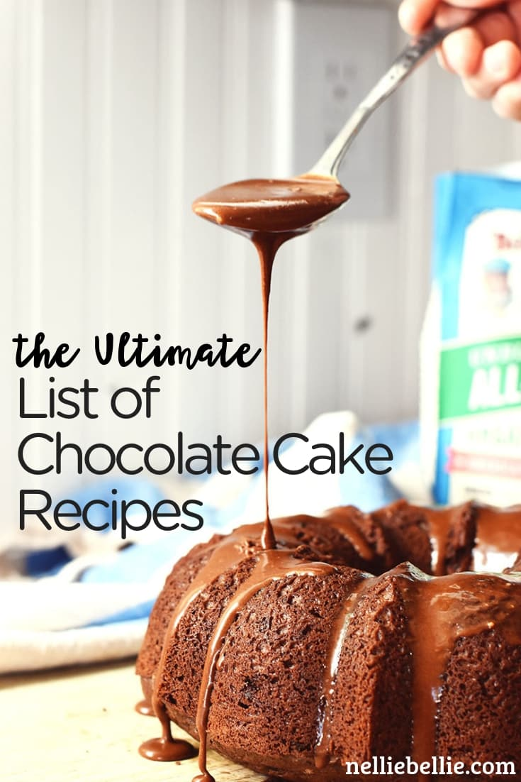 the ultimate list of homemade chocolate cake recipes on the internet. recipes cake chocolate