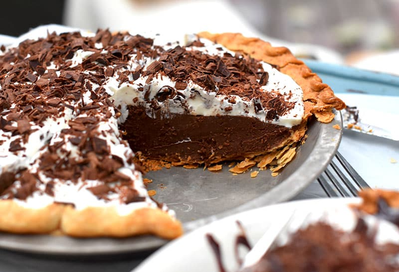 A dark chocolate satin pie is absolutely decadent and a richer, more satiny version of the French Silk Pie