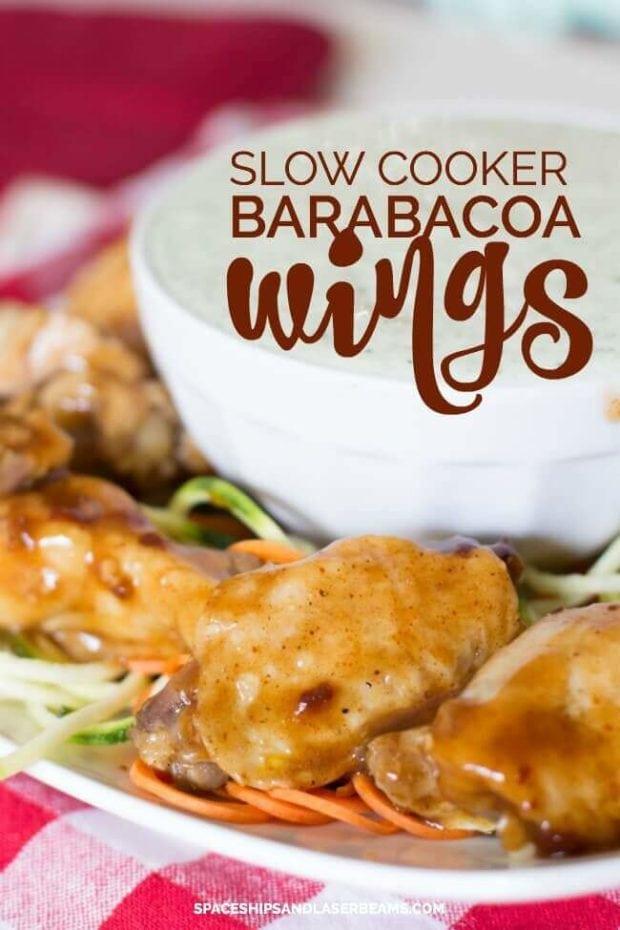 slow cooker barabacoa wings